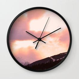 Rose Quartz Turbulence - II Wall Clock