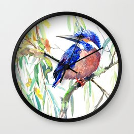 Kingfisher and Willow Wall Clock