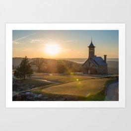 A Golfers Paradise - Top of the Rock - Branson Missouri Art Print