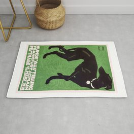1912 Ludwig Hohlwein Dog Show Poster Rug