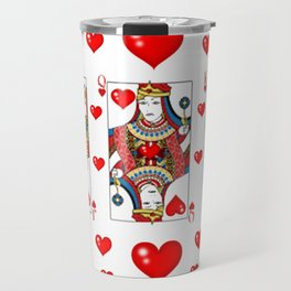 JACK, QUEEN, KING OF HEARTS SUIT CASINO  FACE CARDS Travel Mug