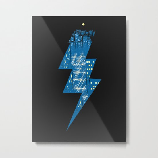 Thunder City Metal Print