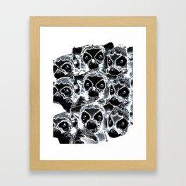 Latticed Lemurs Framed Art Print