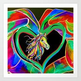 I HEART my HORSE! Art Print
