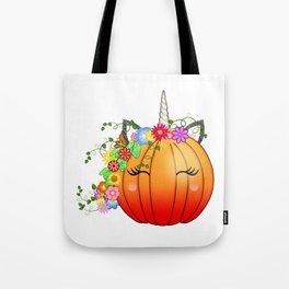 Unicorn Pumpkin Tote Bag
