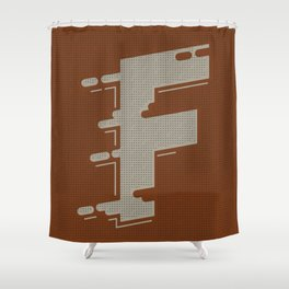 BOLD 'F' DROPCAP Shower Curtain