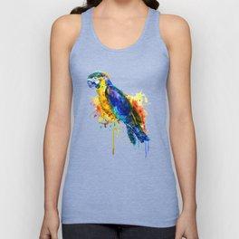 Parrot Watercolor Unisex Tank Top