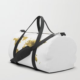 Gold World Map Duffle Bag