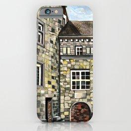 Fantastical Picturesque Hand-Painted Castle in Liege Belgium iPhone Case