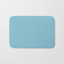 Blue Pinstripes Bath Mat