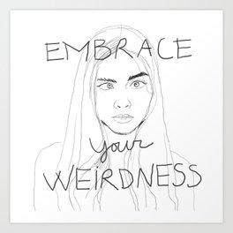cara delevigne - embrace your weirdness Art Print