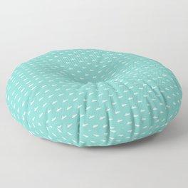 Tiny Subs - Teal Floor Pillow