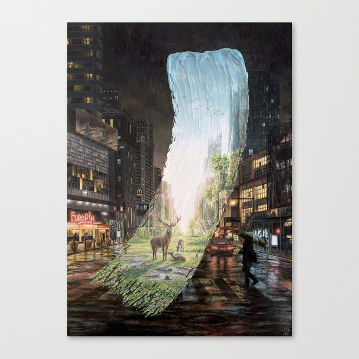 Recover - Brushstrokes in Time Canvas Print