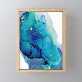 Deep blue water Framed Mini Art Print