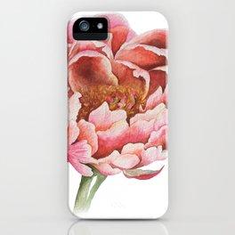 Bubblegum Peony iPhone Case