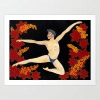 Men in Motion #1 Touche Art Print