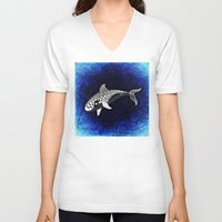 killer whale V-neck T-shirts featuring Killer Whale Illustration by Limitless Design