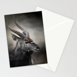 Waiting For The Storm - Nyala Buck - Wildlife Stationery Cards