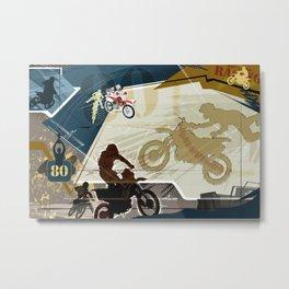 Motocross Metal Print