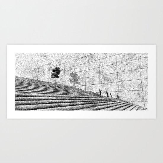 Fingerprint - Stairway Art Print