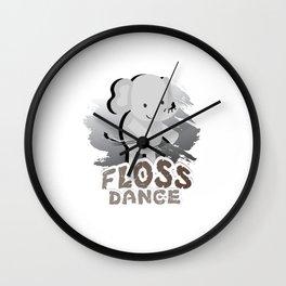 Floss Dance Move Elephant Wall Clock