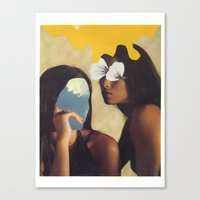 sisters Canvas Prints featuring sisters by Jesse Treece