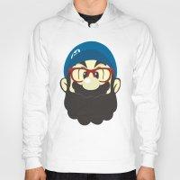 mario Hoodies featuring Mario bro by Beardy Graphics