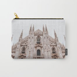 Tips of the tower - Milan Italy Duomo photo | Street Architecture Urban Urbanscape colourful building photography art print Carry-All Pouch
