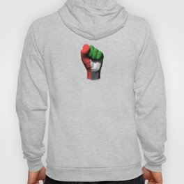 UAE Flag on a Raised Clenched Fist Hoody