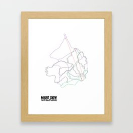 Mount Snow, VT - Minimalist Summer Trail Art Framed Art Print