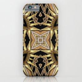 Black Gold Geometric Love iPhone Case