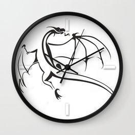 A simple flying dragon Wall Clock