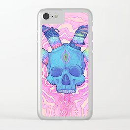 Mana Skull 2 Clear iPhone Case