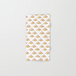 Pink and Yellow Boho Triangles Hand & Bath Towel