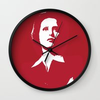 dana scully Wall Clocks featuring Dana Scully - Whammy by Laura