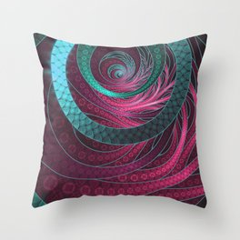 Abstract Bangles of Very Berry Bubblegum Bands Throw Pillow