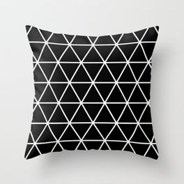 Black Isometric Pattern Throw Pillow