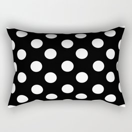 Polka Dot (White & Black Pattern) Rectangular Pillow