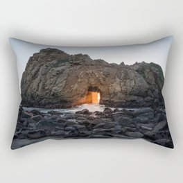 Opening In The Rocks On The Sea Rectangular Pillow