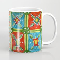 Watercolor Abstract Floral Art - Tile 5474 Coffee Mug