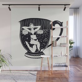 Tea time = relax time Wall Mural