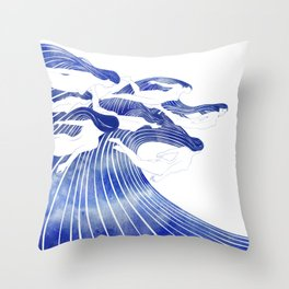 Seven Nereids Throw Pillow