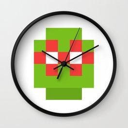 hero pixel green red Wall Clock