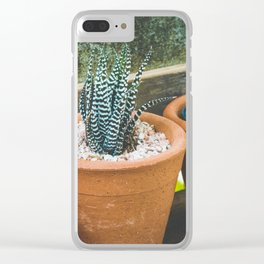 Exotic Plant Clear iPhone Case