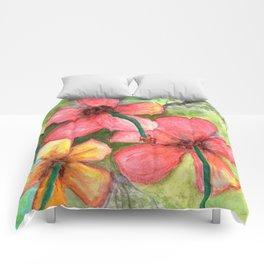 Hibiscus Be Side Myself Comforters