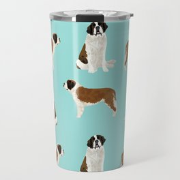 Saint Bernard dog breed pet portrait pure breed unique dogs gifts Travel Mug