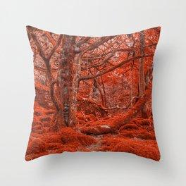 Ruby Moss Forest Throw Pillow