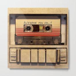 Mixed Tape Metal Print