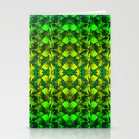 green pattern Stationery Cards featuring Green pattern. by Assiyam