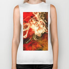 Red smoke background Biker Tank